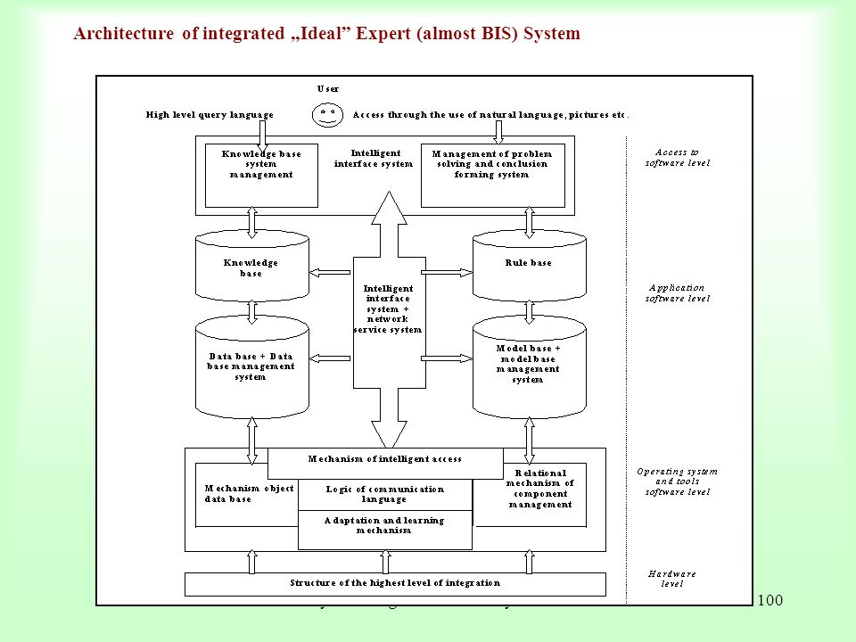 "Architecture of integrated ""Ideal Expert (almost BIS) System"