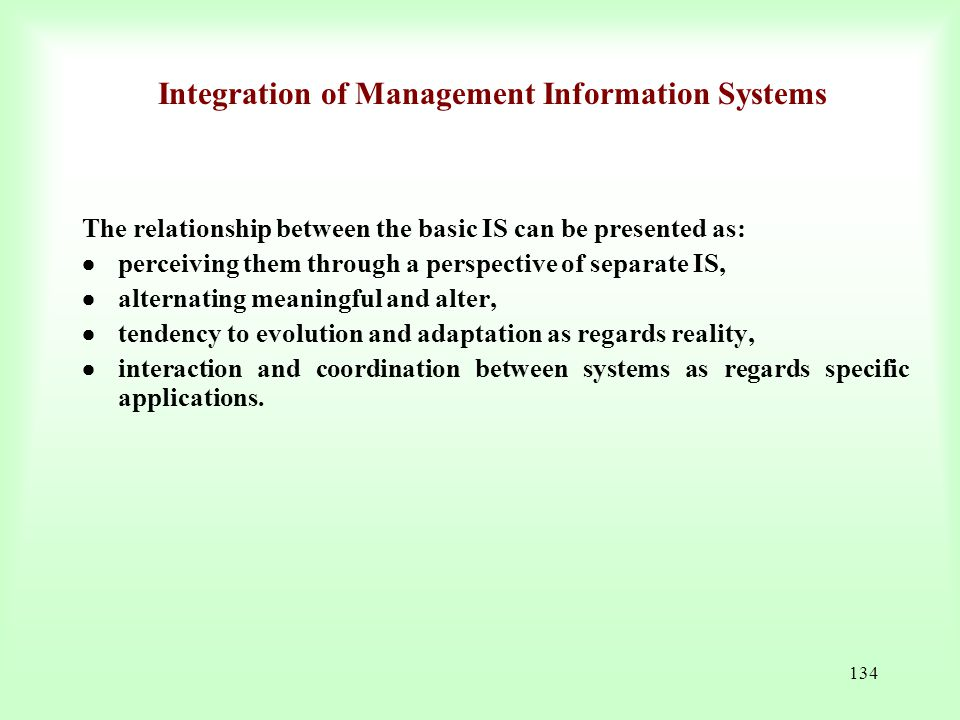 Integration of Management Information Systems