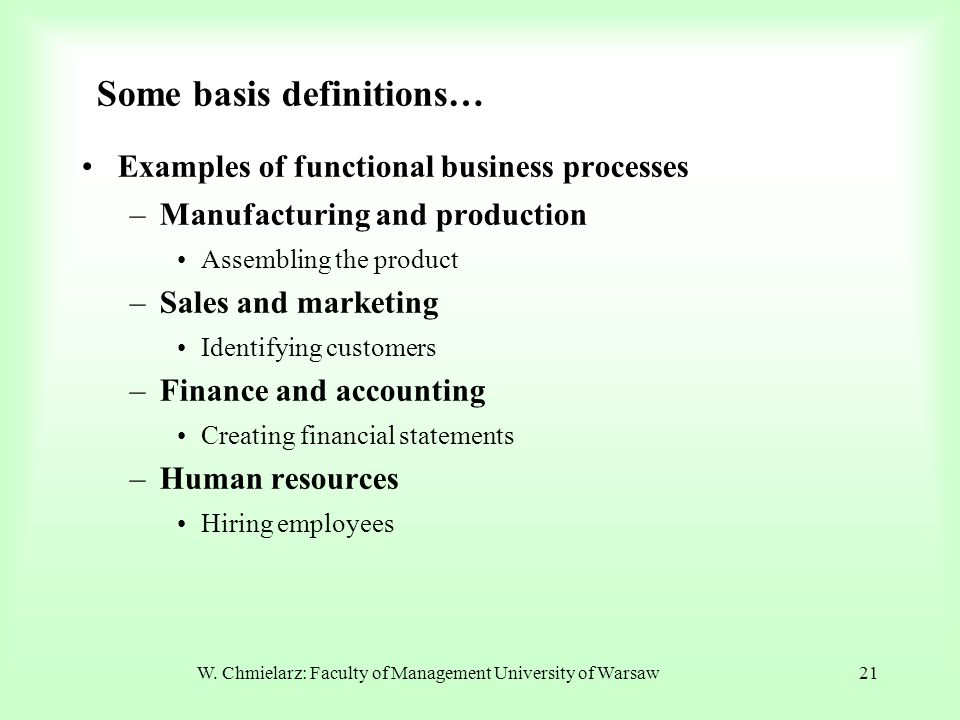 Some basis definitions…