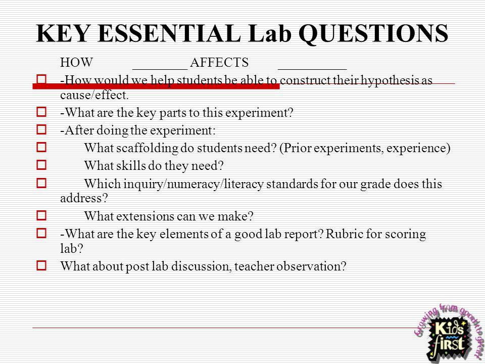 KEY ESSENTIAL Lab QUESTIONS