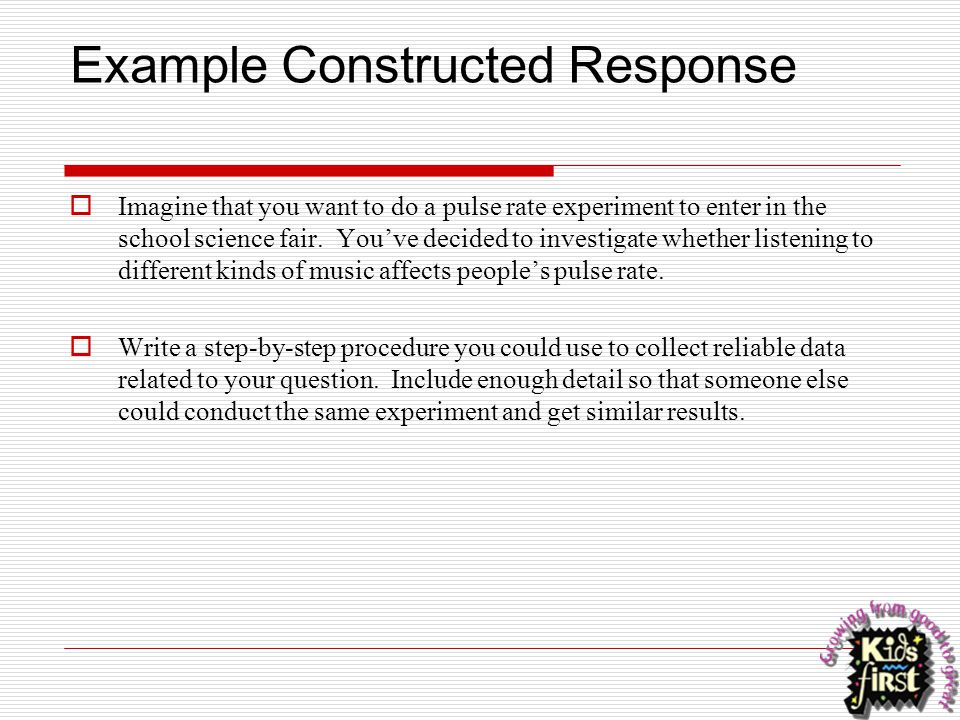 Example Constructed Response