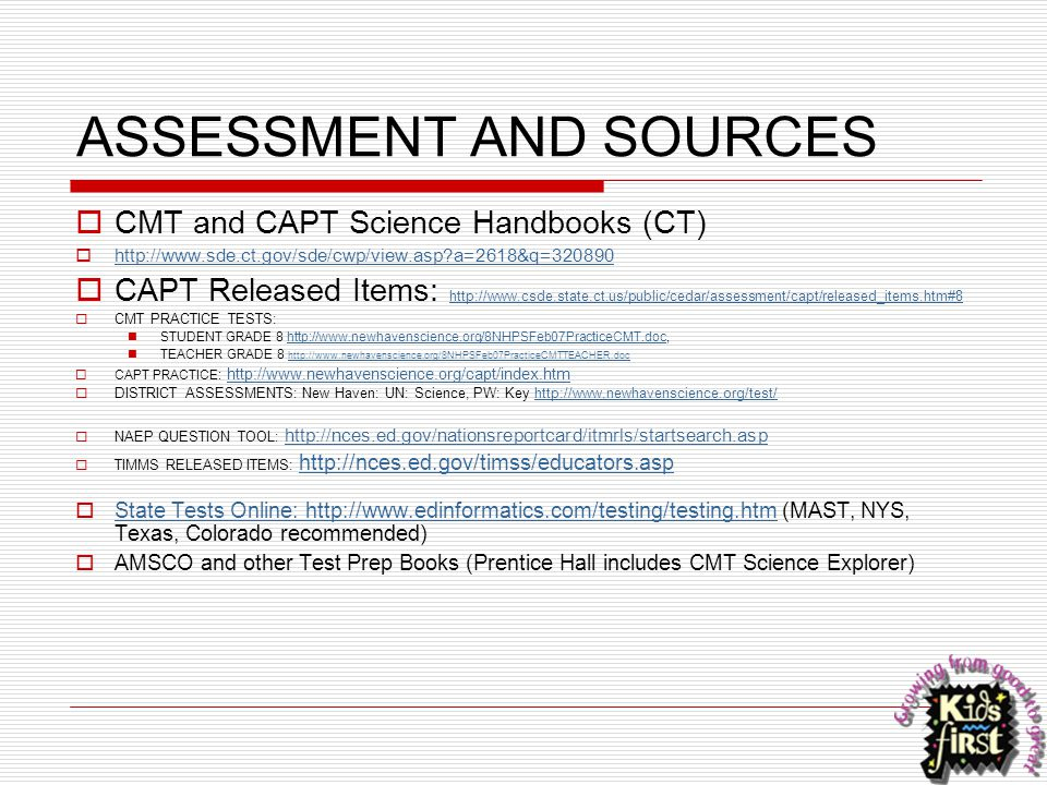 ASSESSMENT AND SOURCES