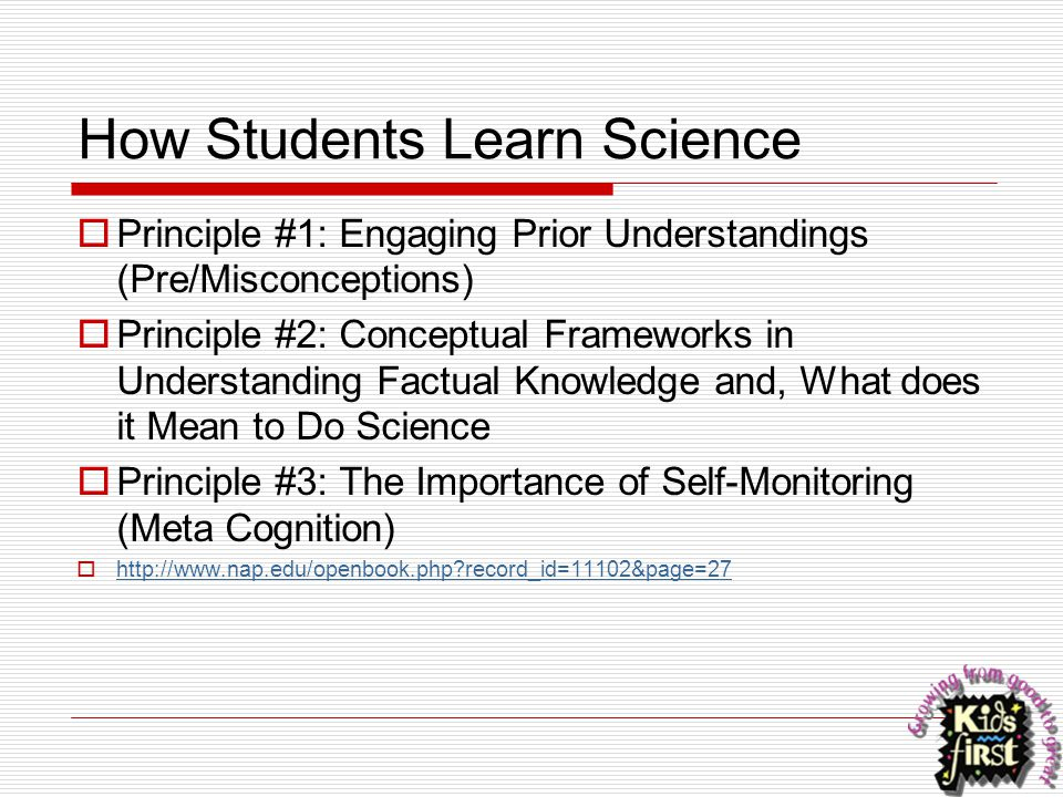 How Students Learn Science