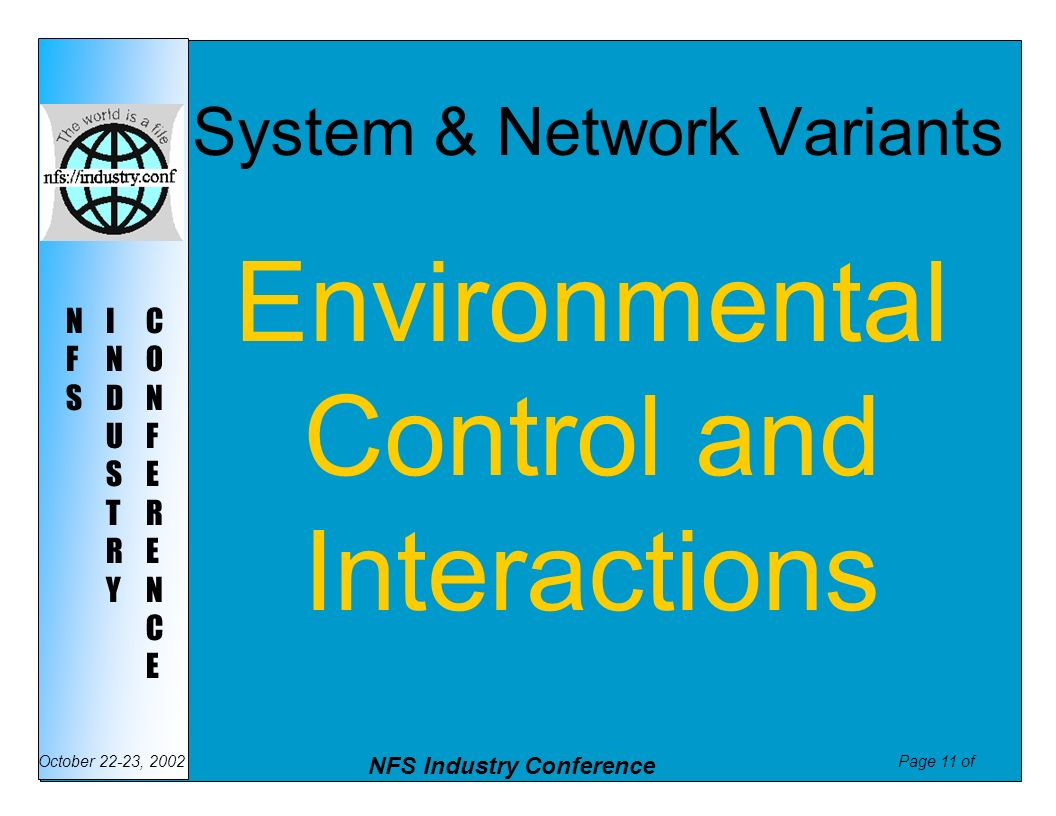 System & Network Variants