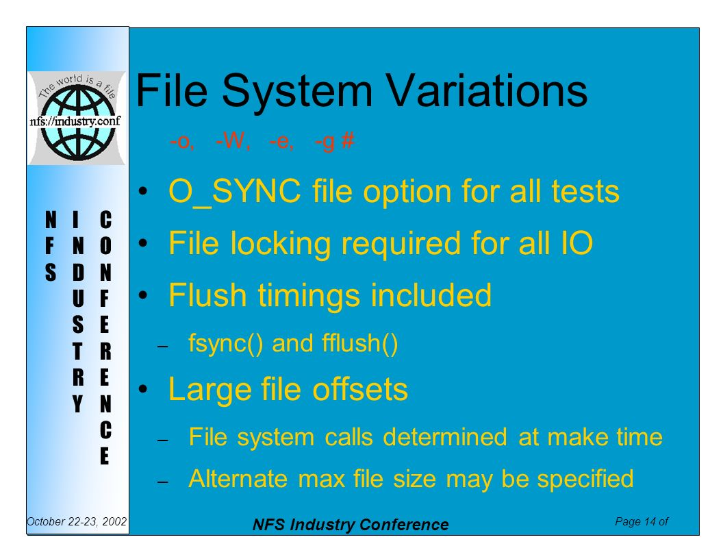 File System Variations