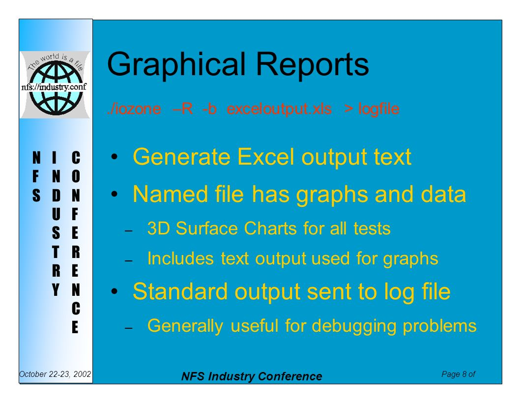 Graphical Reports Generate Excel output text