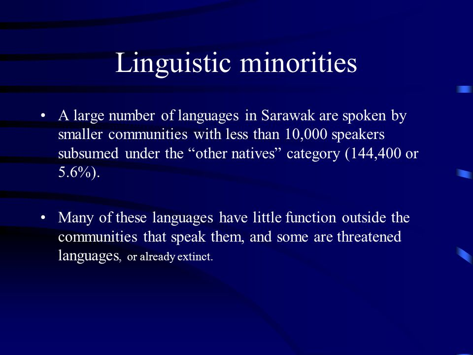 Linguistic minorities