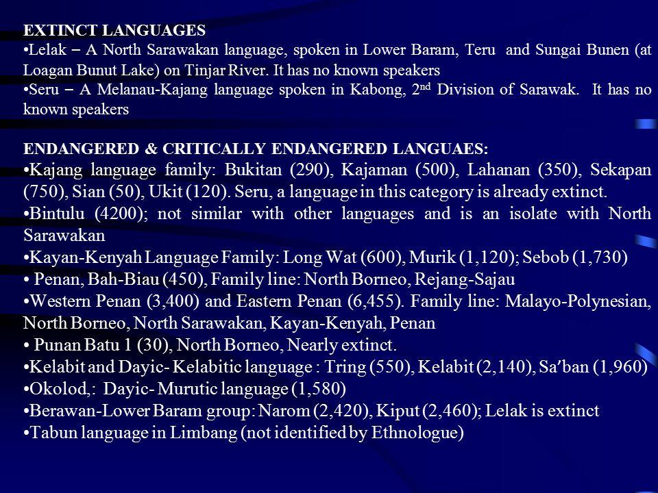 Penan, Bah-Biau (450), Family line: North Borneo, Rejang-Sajau