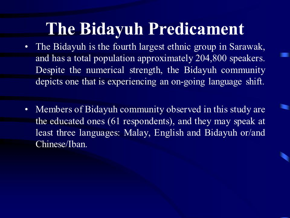 The Bidayuh Predicament