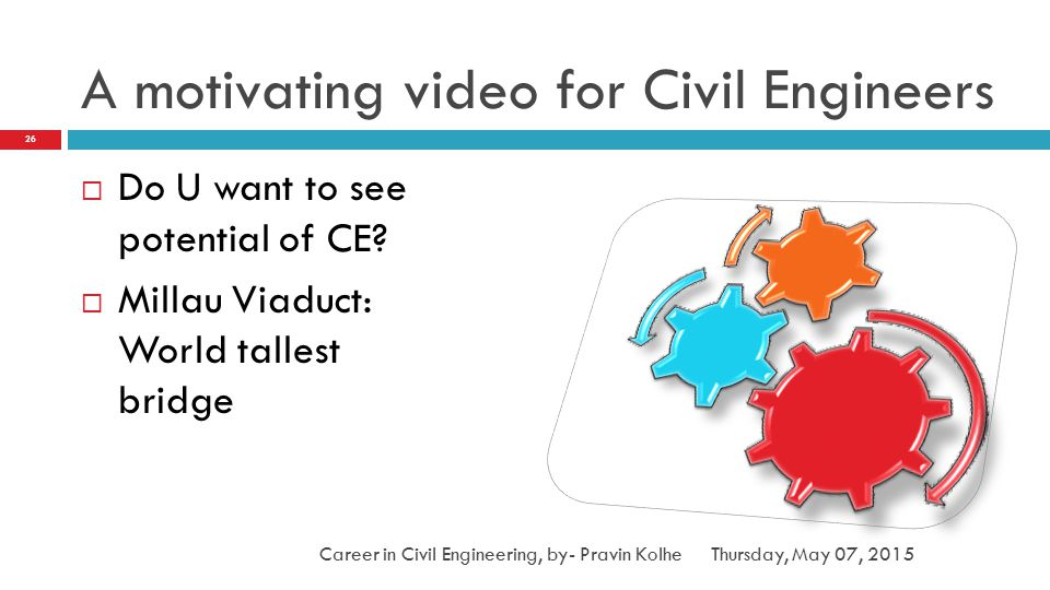 A motivating video for Civil Engineers