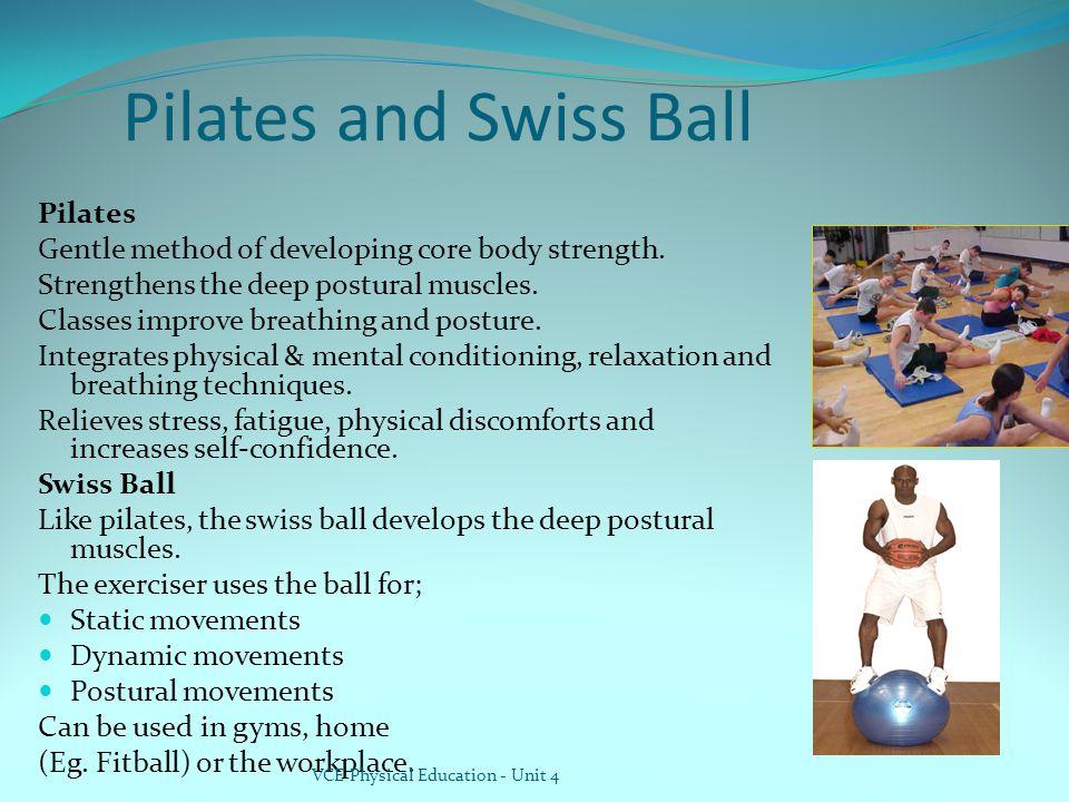 Pilates and Swiss Ball Pilates