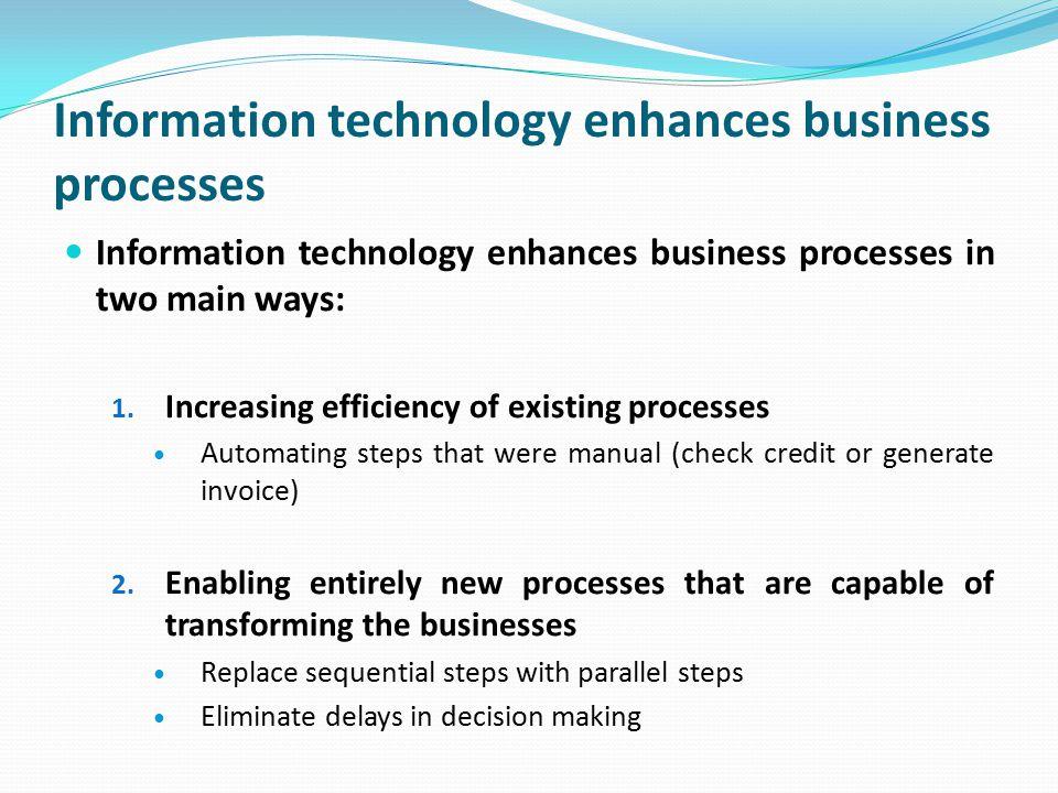 Information technology enhances business processes