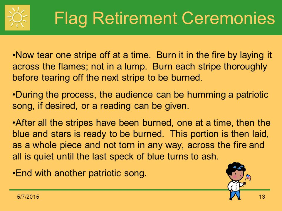 Flag Retirement Ceremonies