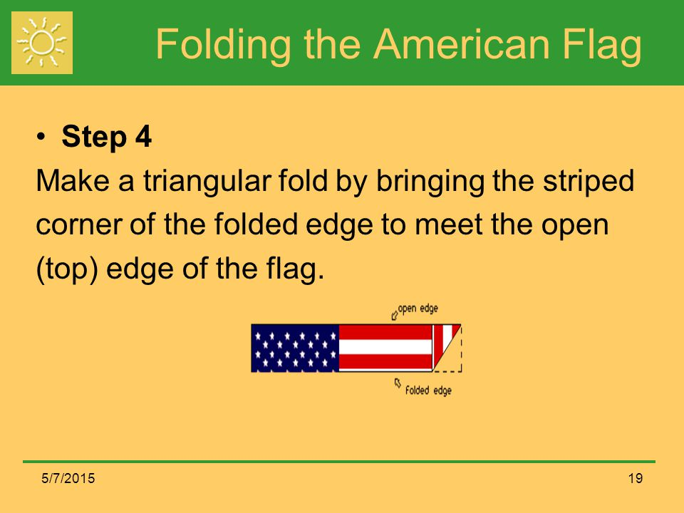 Folding the American Flag