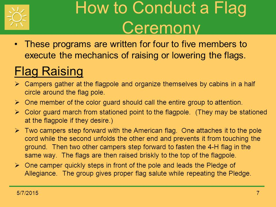 How to Conduct a Flag Ceremony