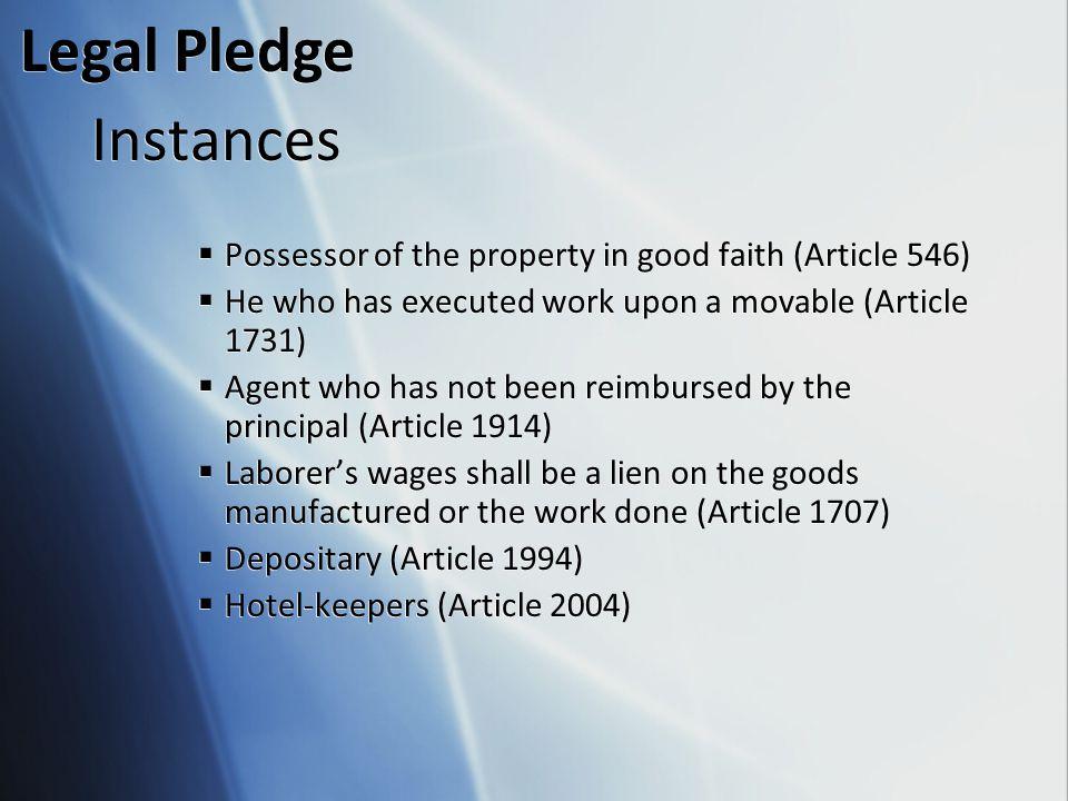 Legal Pledge Instances