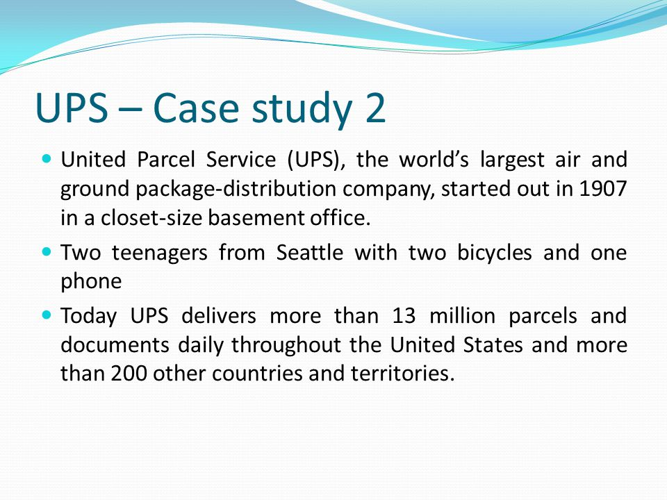 Ups competes globally with information technology case study