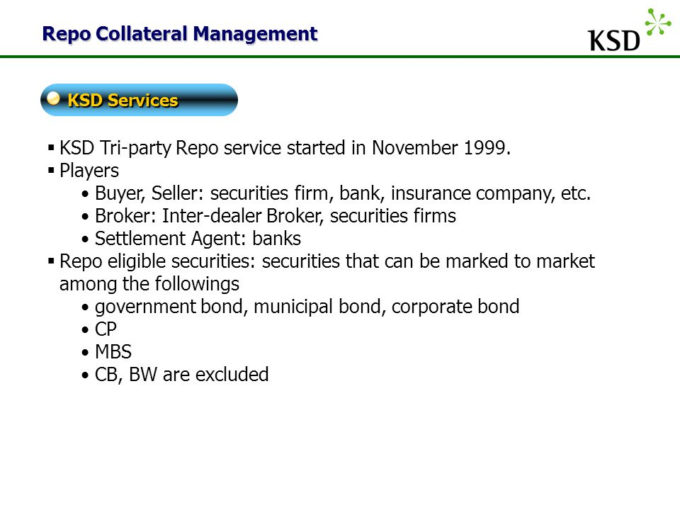 Repo Collateral Management