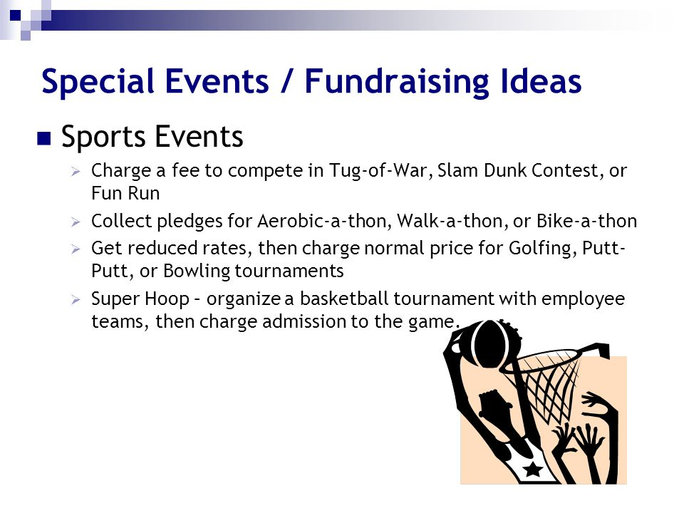 Special Events / Fundraising Ideas