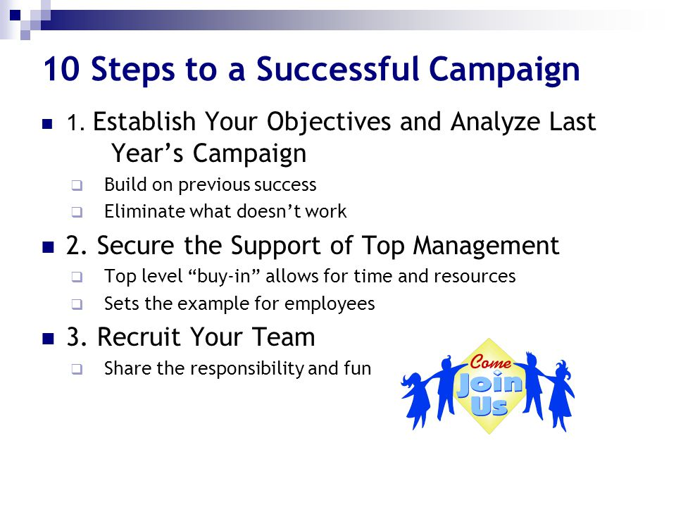 10 Steps to a Successful Campaign