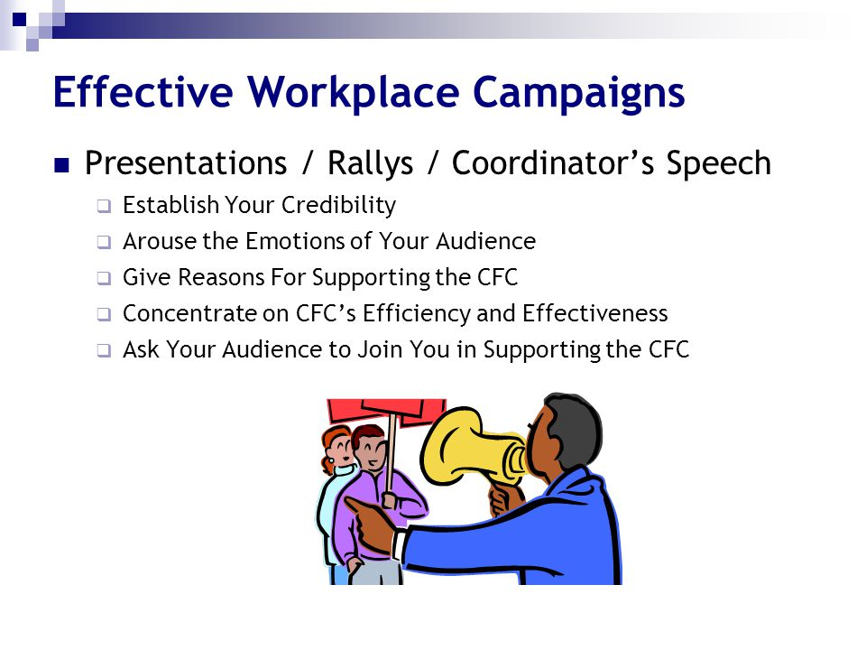 Effective Workplace Campaigns
