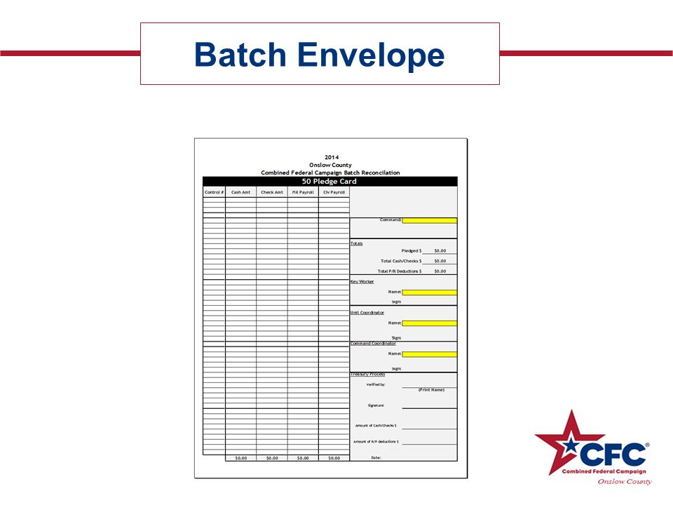 Batch Envelope