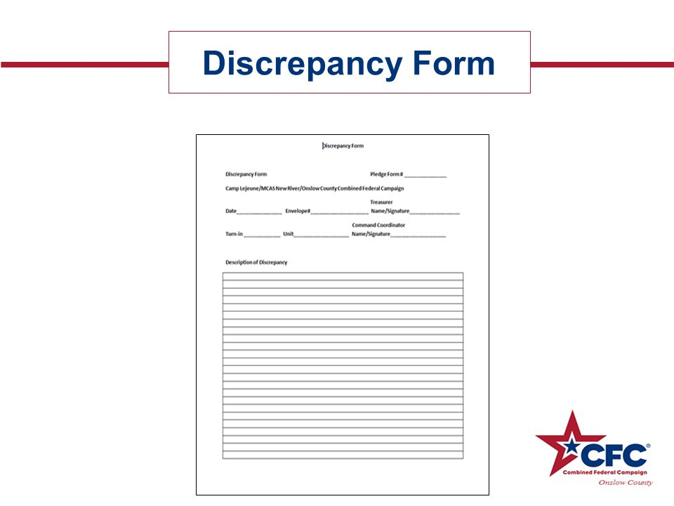 Discrepancy Form