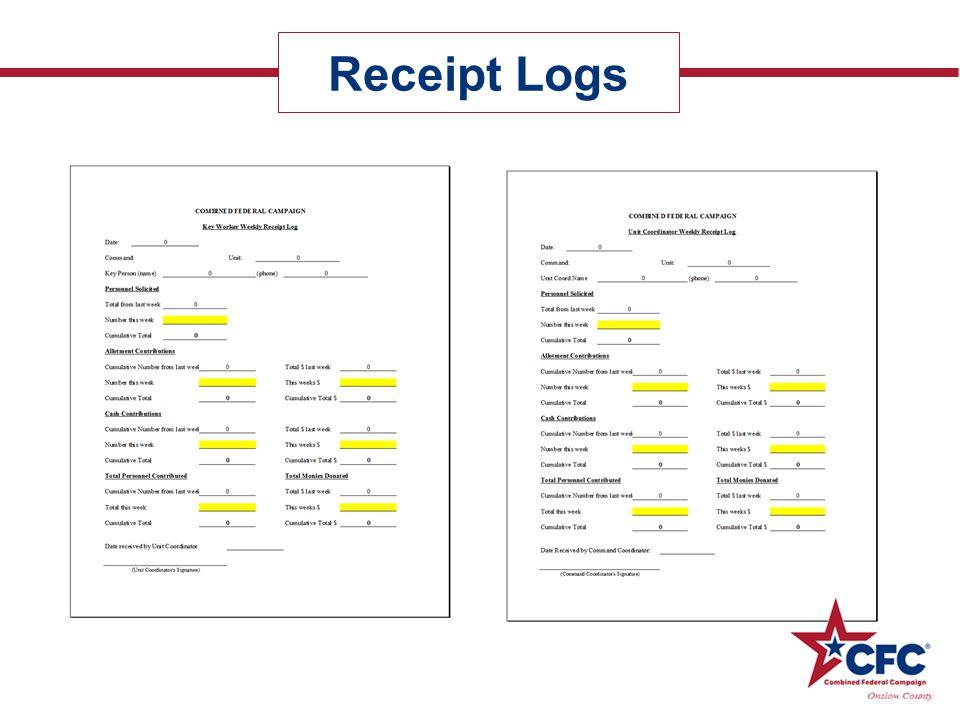 Receipt Logs