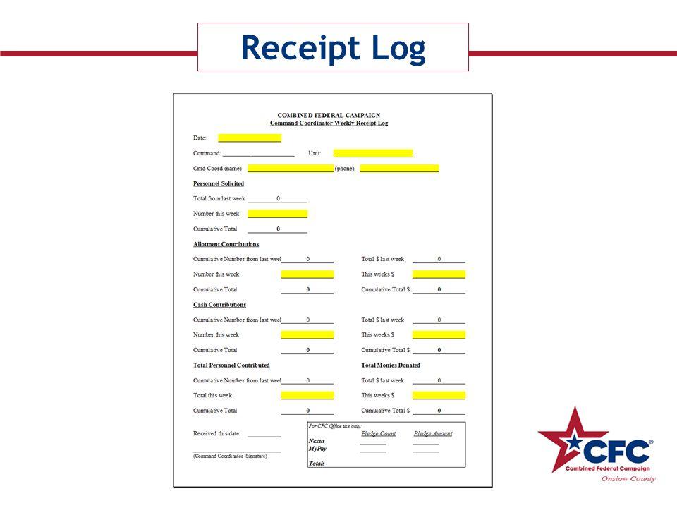 Receipt Log