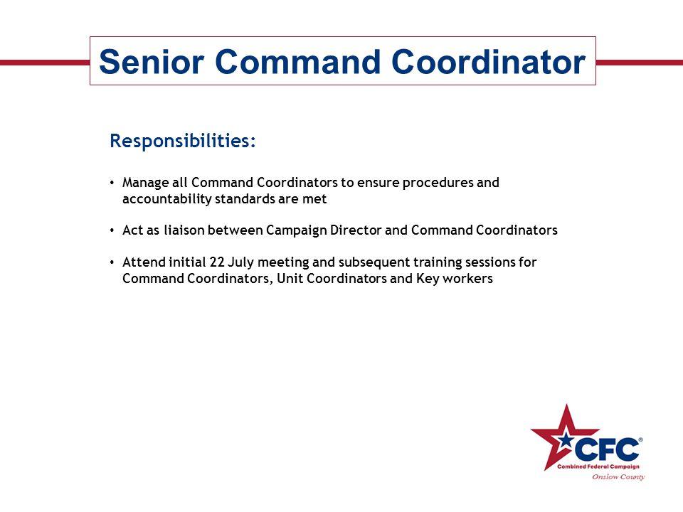 Senior Command Coordinator