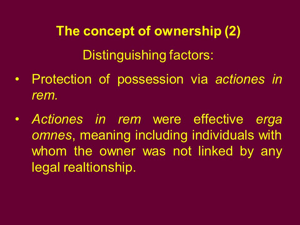The concept of ownership (2)