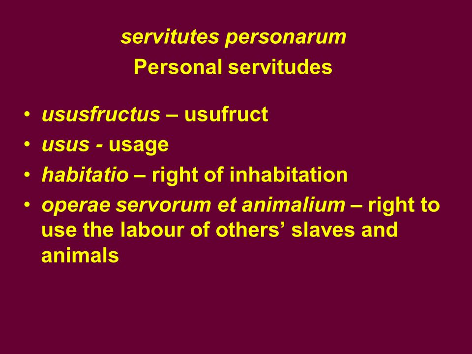 servitutes personarum