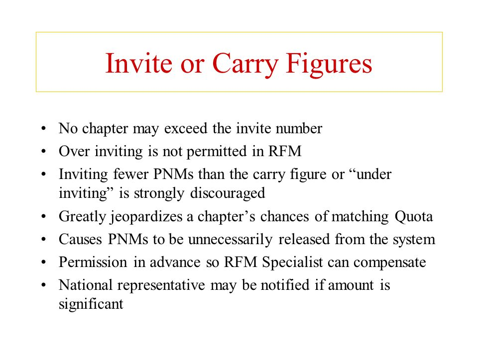 Invite or Carry Figures