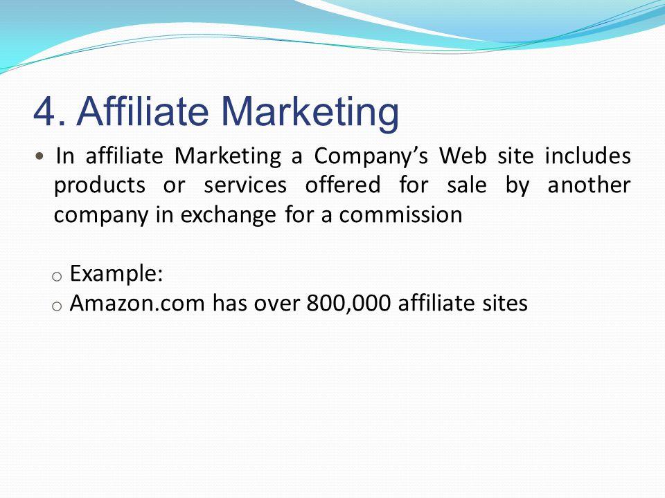 4. Affiliate Marketing