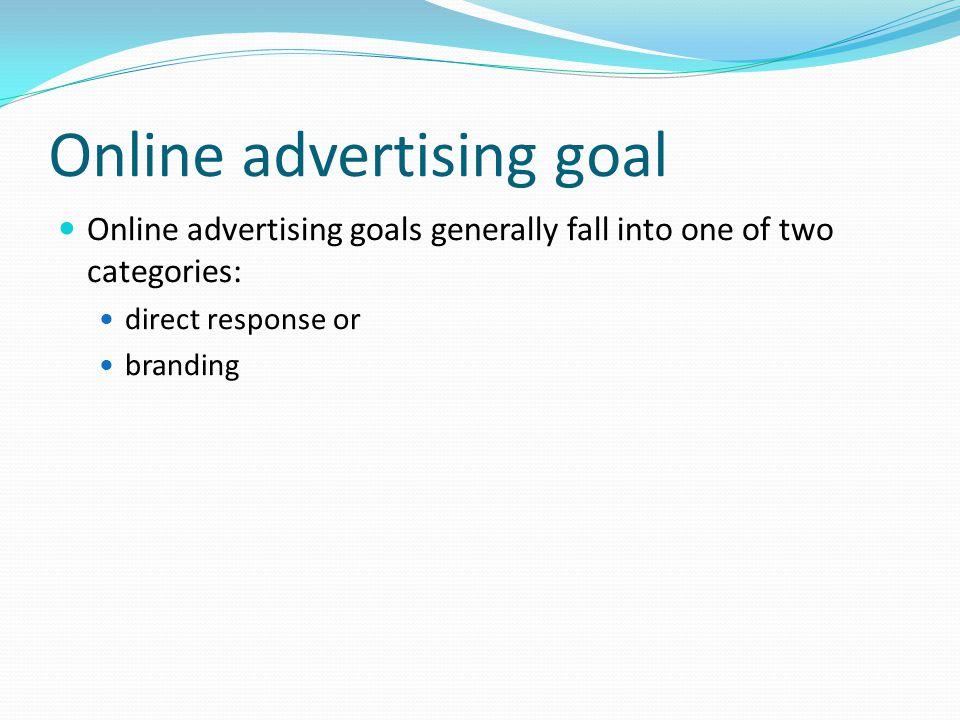 Online advertising goal