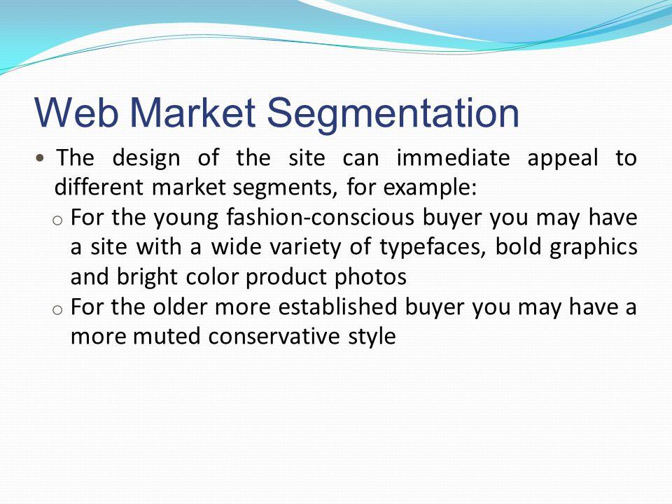 Web Market Segmentation