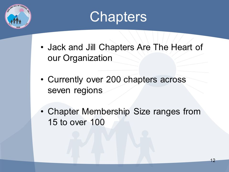Chapters Jack and Jill Chapters Are The Heart of our Organization