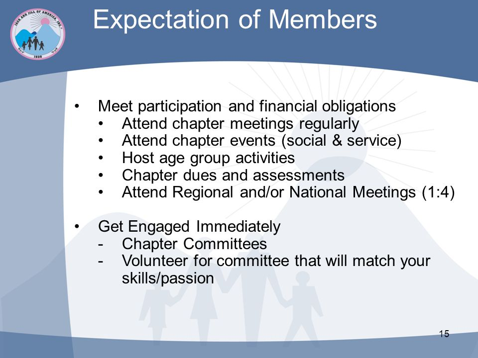 Expectation of Members