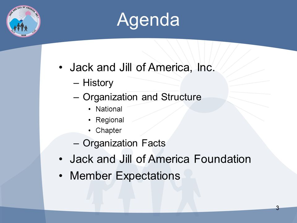 Agenda Jack and Jill of America, Inc.