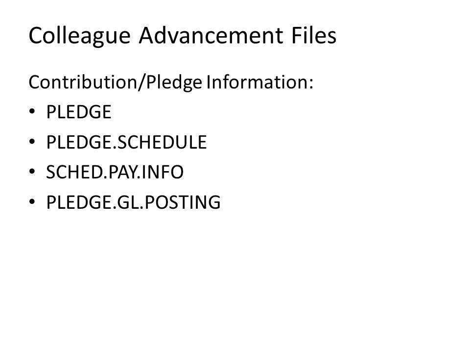 Colleague Advancement Files