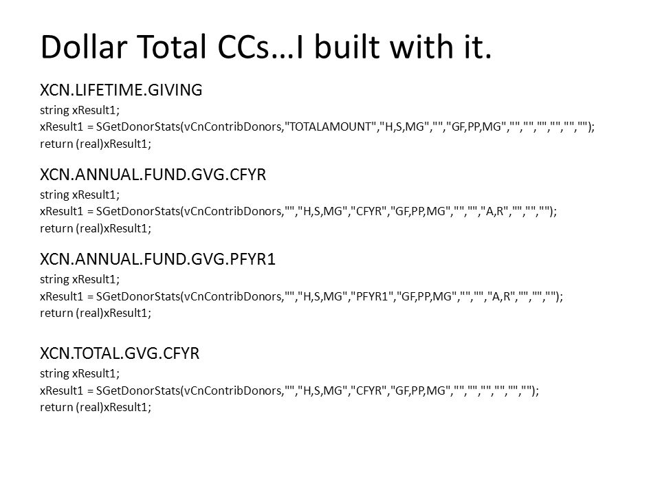 Dollar Total CCs…I built with it.