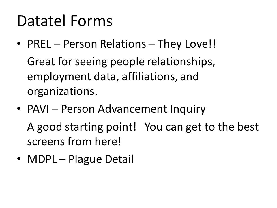 Datatel Forms PREL – Person Relations – They Love!!
