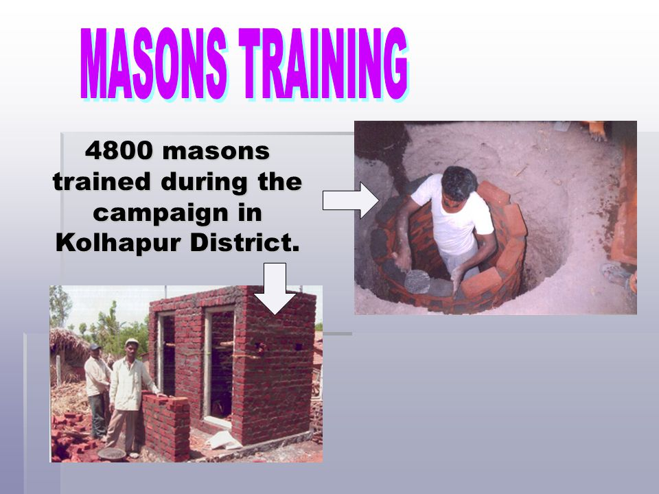 4800 masons trained during the campaign in Kolhapur District.