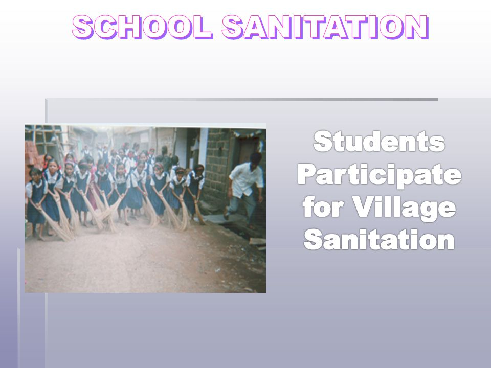 Students Participate for Village Sanitation