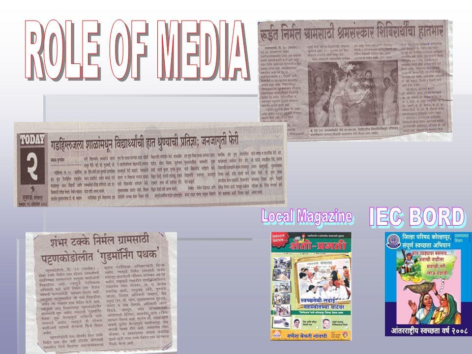 ROLE OF MEDIA Local Magazine IEC BORD