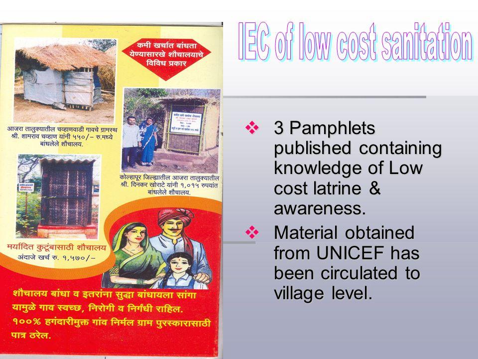 IEC of low cost sanitation