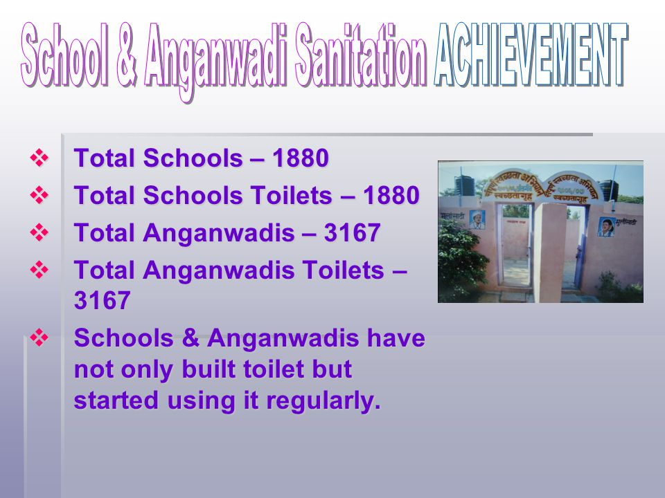 School & Anganwadi Sanitation ACHIEVEMENT