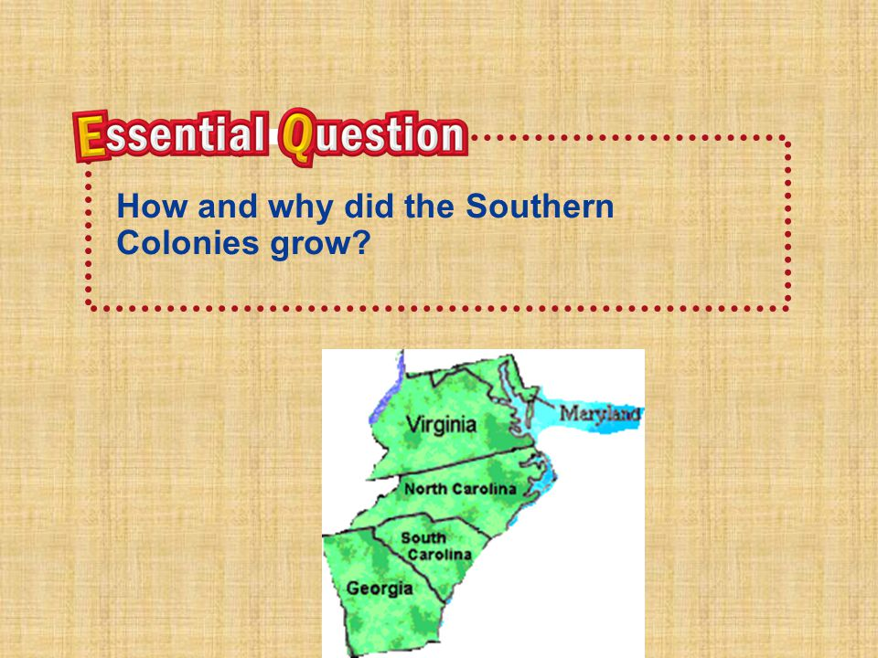 How and why did the Southern Colonies grow