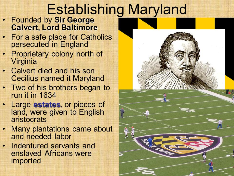 Establishing Maryland