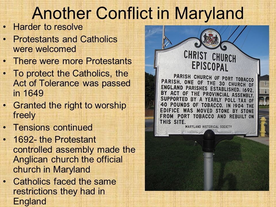 Another Conflict in Maryland